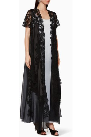 Pearl Haute Couture Organza & Lace Abaya