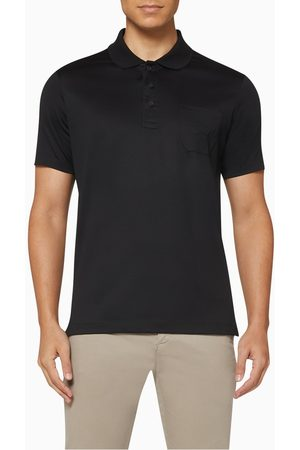 Paul & Shark Embroidered Pocket Pique Cotton Polo T-Shirt