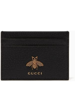 Gucci Bee Detail Leather Card Holder