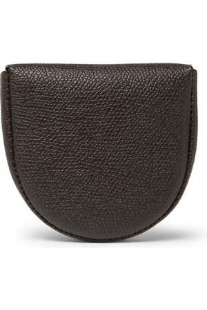 VALEXTRA Tallone Pebble-Grain Leather Coin Wallet