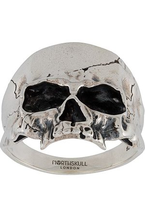 NORTHSKULL Disfigured Medius Skull ring