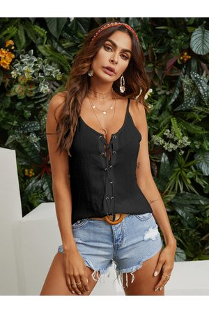 YOINS Lace-up Design V-neck Sleeveless Cami