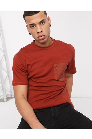 River Island T-shirt with pocket in rust
