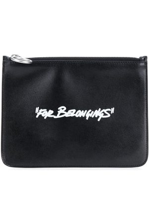 OFF-WHITE Quote-motif flat pouch