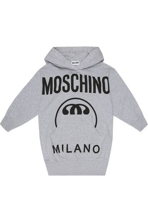 Moschino Logo cotton-fleece hoodie dress