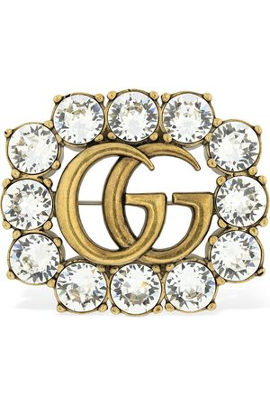 Gucci Women Pins & Brooches - Gg Marmont Crystal Brooch