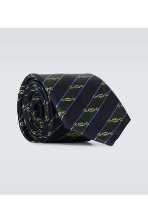 Gucci Interlocking G Horsebit jacquard silk tie