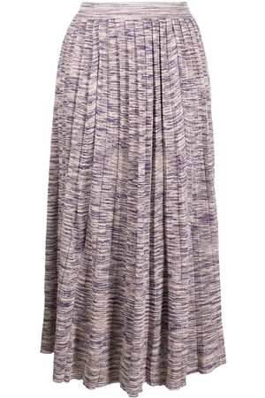 ULLA JOHNSON Marlie pleated knit skirt
