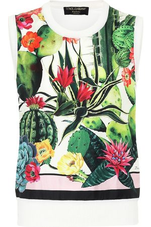 Dolce & Gabbana Exclusive to Mytheresa – Printed silk and cashmere sweater vest