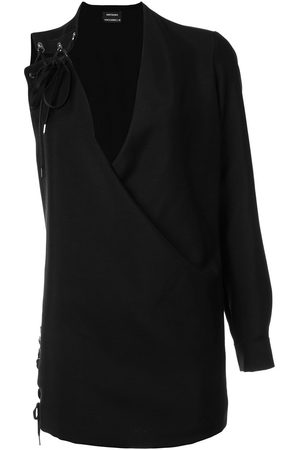 Anthony Vaccarello Women Party Dresses - One sleeve lace-up dress