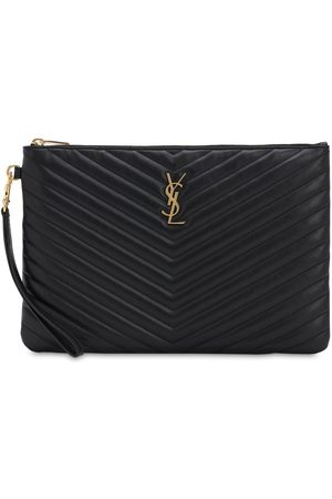 Saint Laurent Md Quilted Leather Pouch
