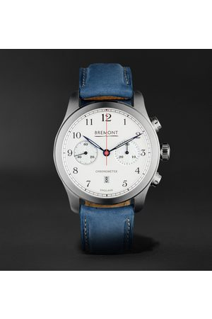 Bremont Men Watches - ALT1-C Rose Automatic 43mm Stainless Steel and Nubuck Watch