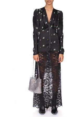 Paco Rabanne Stretch Lace Maxi Skirt
