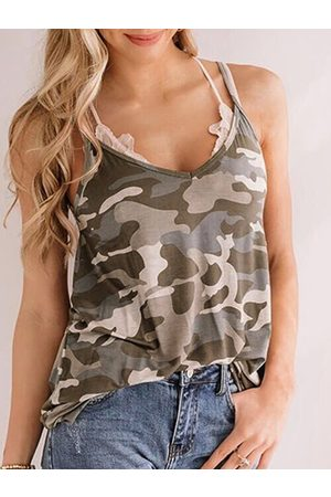 YOINS Casual V-neck Sleeveless Cami