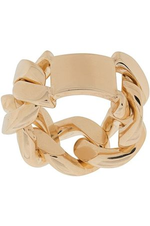 Bottega Veneta Curved-tag chain ring