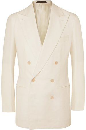 Saman Amel Double-Breasted Unstructured Wool Blazer