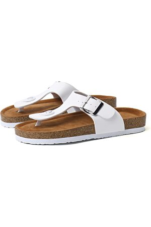 YOINS Casual Toe Post Buckle Design Slippers