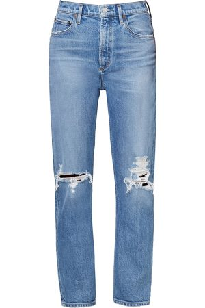 AGOLDE Wilder Stretch Mid-Rise Straight-Leg Jeans