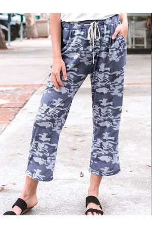 YOINS Casual Camouflage Side Pockets Pants