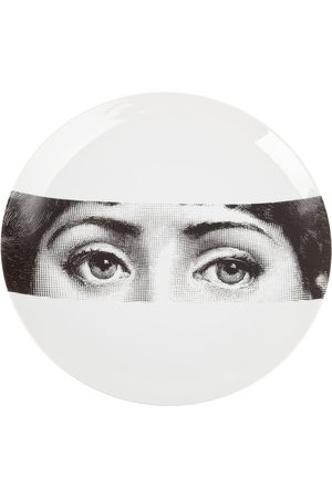 FORNASETTI Eyes round plate