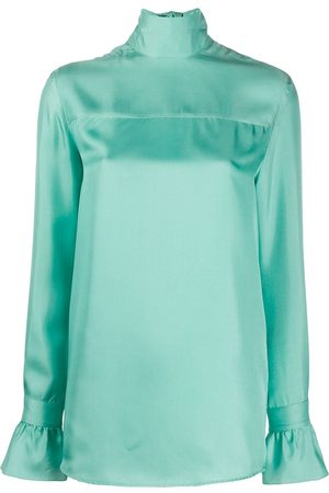 Victoria Victoria Beckham Satin high-neck blouse