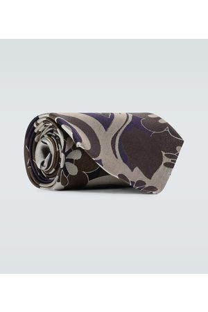 DRIES VAN NOTEN Men Neckties - Flower printed silk tie