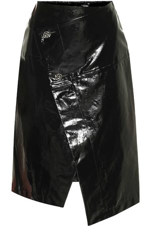 Marni Patent faux leather midi skirt