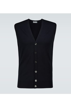 JOHN SMEDLEY Stavely knitted wool vest