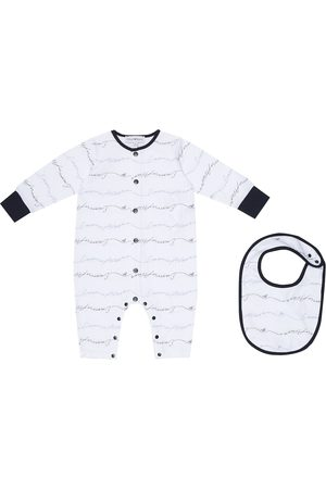Emporio Armani Logo cotton onesie and bib set