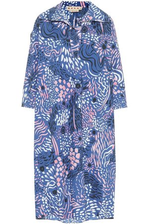 Marni Printed cotton poplin midi dress