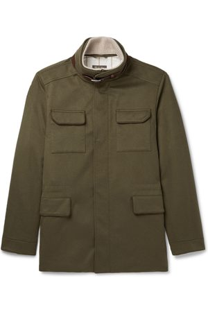 Loro Piana Suede- and Leather-Trimmed Storm System® Cashmere-Blend Field Jacket