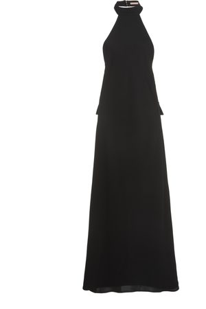 Maggie Marilyn Fate Has Bought Us Here Halterneck Crepe Maxi Dress