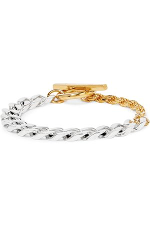 Bottega Veneta Sterling and Gold-Tone Chain Bracelet