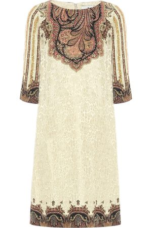 Etro Women Dresses - Paisley lamé jacquard shift dress