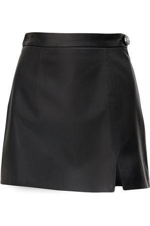 The Attico Soft Leather Mini Skirt