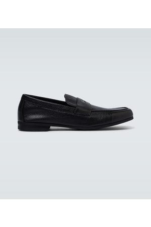 JOHN LOBB Thorne grained leather loafers