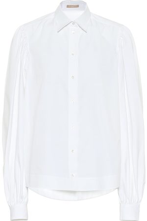 Alaïa Puff-sleeve cotton poplin shirt