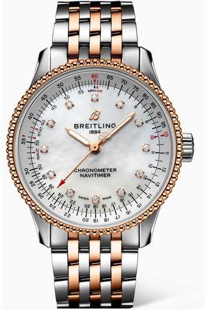 Breitling Women Bracelets & Bangles - Navitimer Automatic 35 with 18kt Red Gold & Diamonds