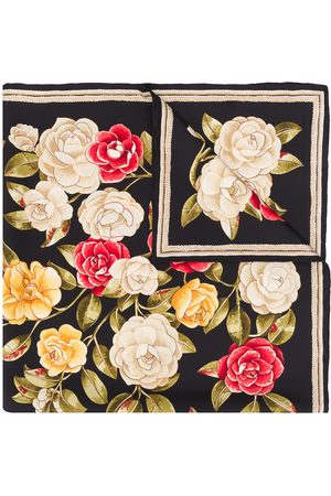 CHANEL Women Scarves - 1990s rose print scarf