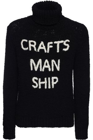 Dolce & Gabbana Embroidered Wool Knit Turtleneck Sweater