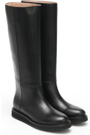 LEGRES Leather knee-high boots