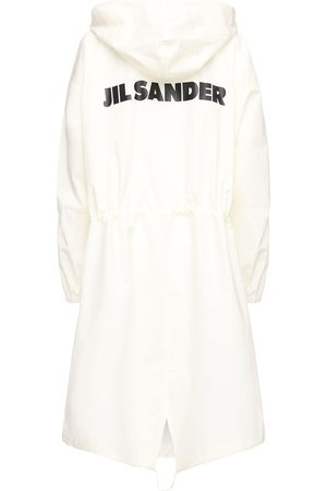 Jil Sander Cotton Windbreaker Coat W/ Back Logo