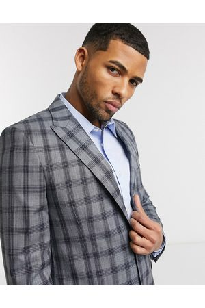 Shelby & Sons Slim suit jacket in with black check