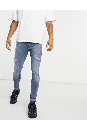 River Island Spray on jeans in mid