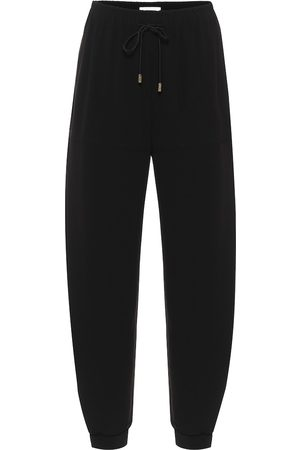 Chloé High-rise crêpe trackpants