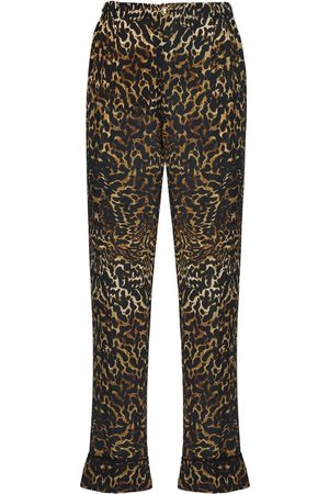 F.R.S For Restless Sleepers Print Silk Crepe Pants