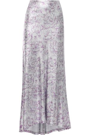 Paco rabanne Floral Print Viscose Blend Long Skirt