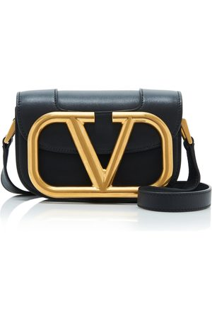 VALENTINO Garavani Supervee Small Leather and Brass Shoulder