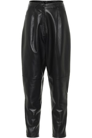 Alessandra Rich High-rise tapered leather pants