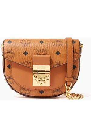 MCM Mini Patricia Round Crossbody in Visetos